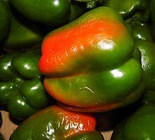 Peppers by WildestArt