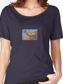 Chameleon In Shades of Brown on Fence Women's Relaxed Fit T-Shirt