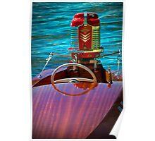 Antique Mercury Boat Motor Poster