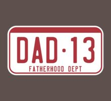 DAD 2013 license plate fatherhood dept. red by MILK-Lover