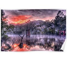 Mist & Light - Jingelic NSW/Walwa Victoria - The HDR Experience Poster