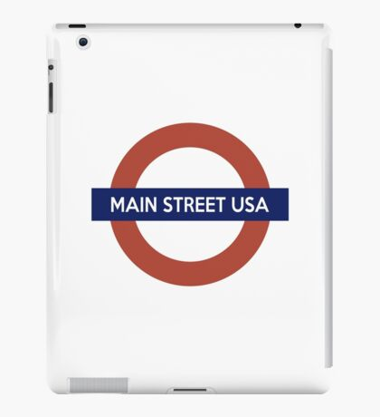 Main Street USA Line iPad Case/Skin