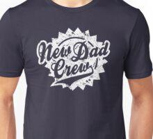 New Dad Crew Vintage Shield Design White Unisex T-Shirt