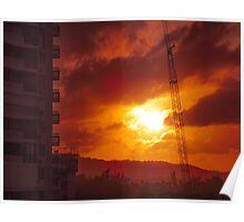 Luquillo Beach sunset_2, Puerto Rico Poster