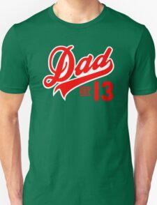 Dad ESTABLISHED 2013 Red T-Shirt