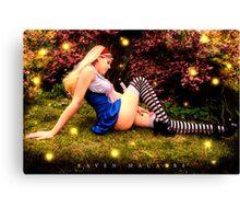 Hayley as Alice Canvas Print