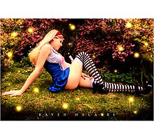Hayley as Alice Photographic Print