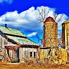 Outbuilding And Two Silos by EBArt