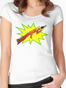 Atomic Rifle Women's Fitted Scoop T-Shirt