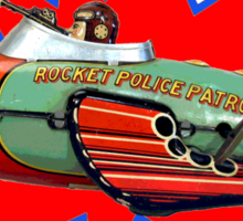Rocket Police Sticker