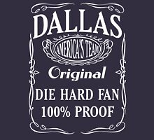 Dallas Die Hard Fan Womens Fitted T-Shirt