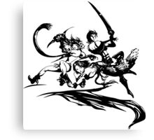 Final Fantasy X-2 (black logo) Canvas Print