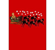 Greyhounds Gingerbread Man Sleigh Holiday  Photographic Print