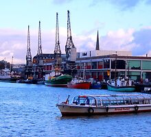 Harbour with Historical crains Bristol by Arvind Singh