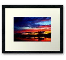 April Sunshine, Broken Scar, River Tees, England Framed Print