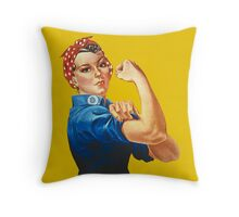 Rosie the Riveter Throw Pillow