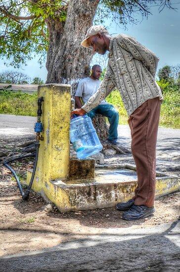 Public Water Pump in Fox Hill Village - Nassau, The Bahamas by 242Digital