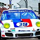 Baltimore Grand Prix, Porsche into corner  by Tom  Sachse