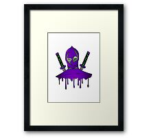 Purple Ninja Framed Print