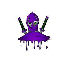 Purple Ninja Photographic Print