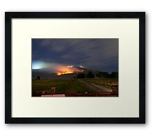 Bush Fires on Mt Dandenong, East Melbourne, Victoria, Australia  Framed Print