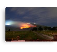 Bush Fires on Mt Dandenong, East Melbourne, Victoria, Australia  Canvas Print