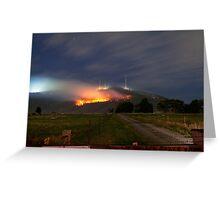 Bush Fires on Mt Dandenong, East Melbourne, Victoria, Australia  Greeting Card