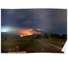 Bush Fires on Mt Dandenong, East Melbourne, Victoria, Australia  Poster