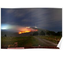 Bush Fires on Mt Dandenong, East Melbourne, Victoria, Australia  Poster