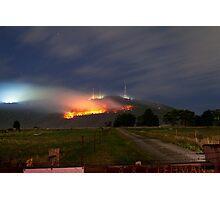 Bush Fires on Mt Dandenong, East Melbourne, Victoria, Australia  Photographic Print