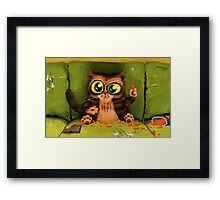 While the Humans Away.. Framed Print