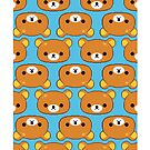 Rilakkuma Pattern Blue by Brandon Baionno