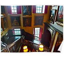 Stairway at Antony House Poster