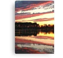 Eastern Shore March Sunset Canvas Print