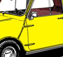 Yellow Mini Cooper Sticker