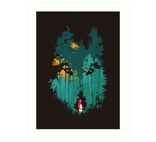 The woods belongs to me Art Print