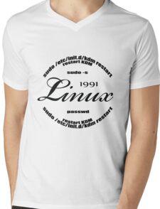 Linux Sudo  Mens V-Neck T-Shirt