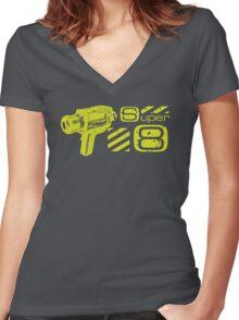 Super 8 Women's Fitted V-Neck T-Shirt