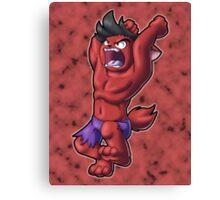 Kitty Hulk (Red) Canvas Print