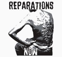 REPARATIONS NOW BATTERED SLAVE BACK SHIRT. (light) T-Shirt