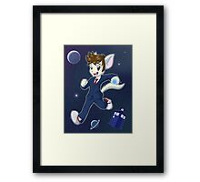 10th Doctor David Tennant Kitty Framed Print