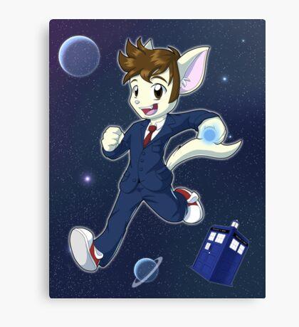 10th Doctor David Tennant Kitty Canvas Print