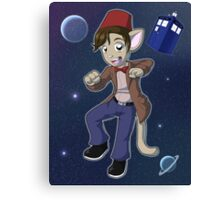 11th Doctor Matt Smith Kitty Canvas Print