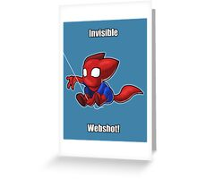 Spider-man Kitty Greeting Card