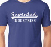 Superdad INDUSTRIES Father Design White Unisex T-Shirt