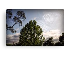 Landscape and the tiger Canvas Print