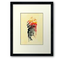 Painted watercolor tiger Framed Print