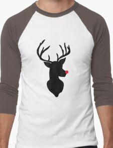 Rudolph Christmas Men's Baseball ¾ T-Shirt
