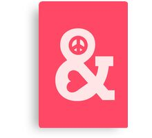 Peace and love - pink Canvas Print