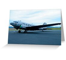 DC-3 at Reading PA Greeting Card